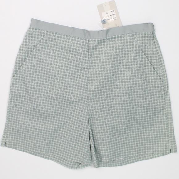 Nike Golf silver green high waist flat front short